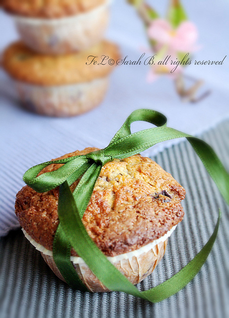 muffins mirtilli e panna acida