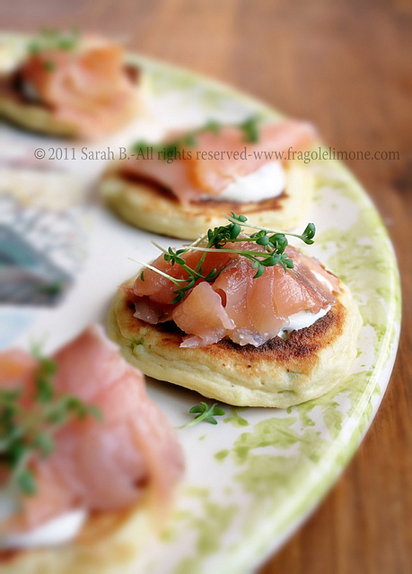tortini al salmone