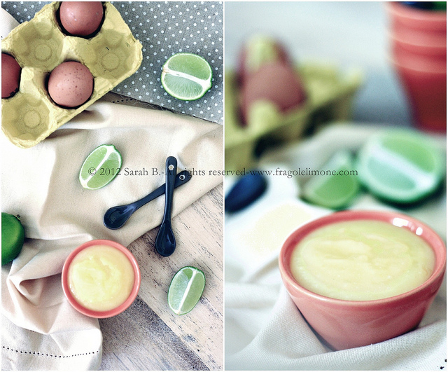 lime curd collage