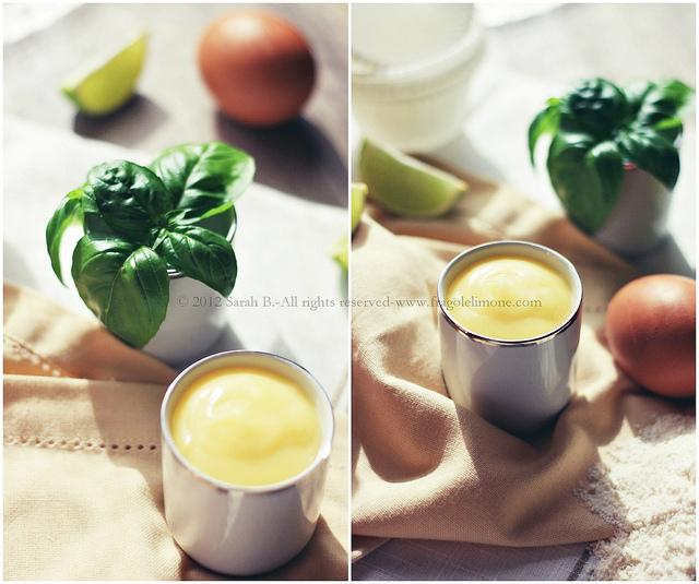 dolce al lime curd e basilico