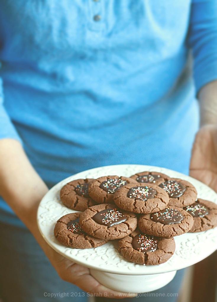 Biscotti festosi al cioccolato
