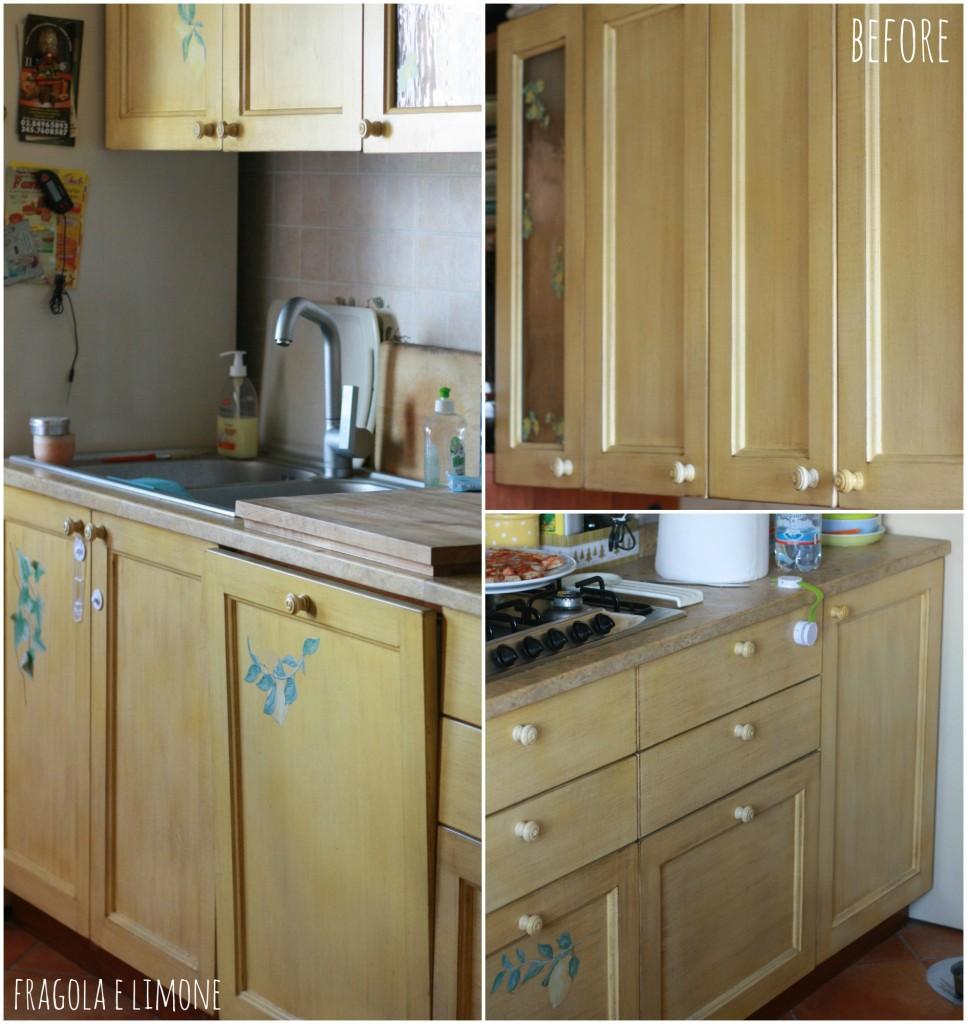 Nuova cucina con meno di 50 euro - Dipingere mobili cucina vecchia ...