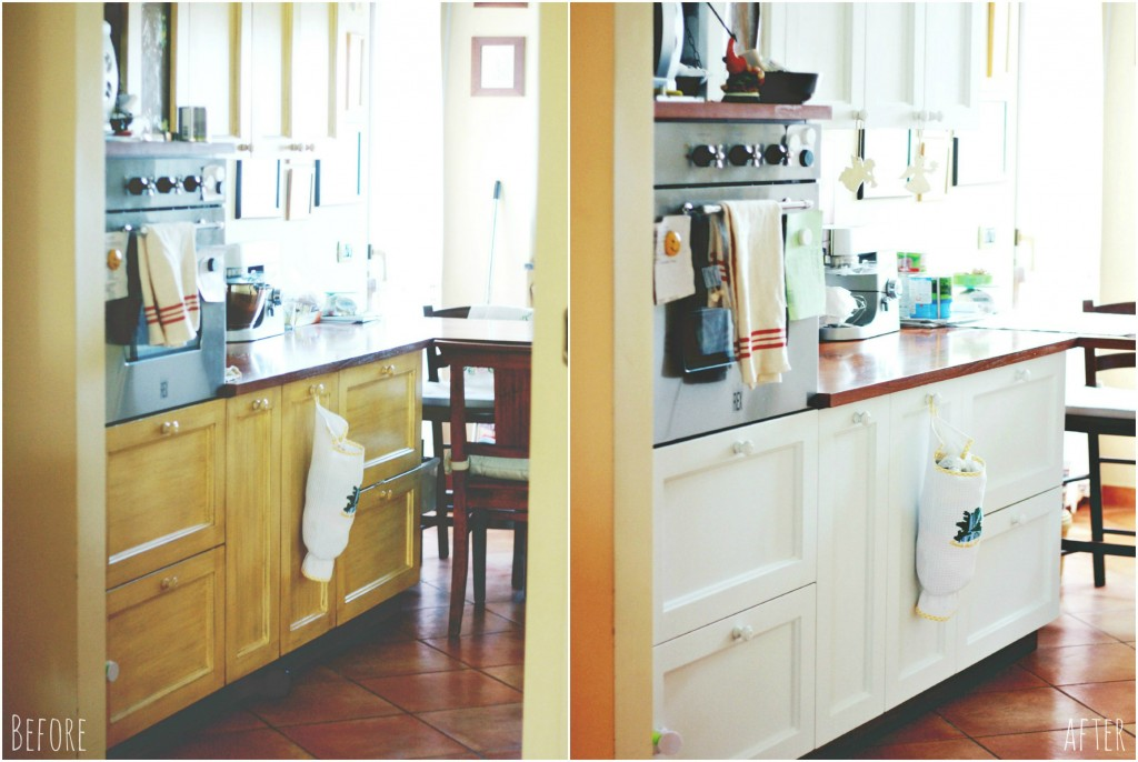 collage cucina beforeafter