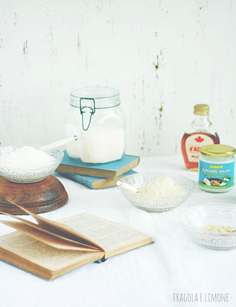 ingredienti biscotti vegan cocco e mandorle