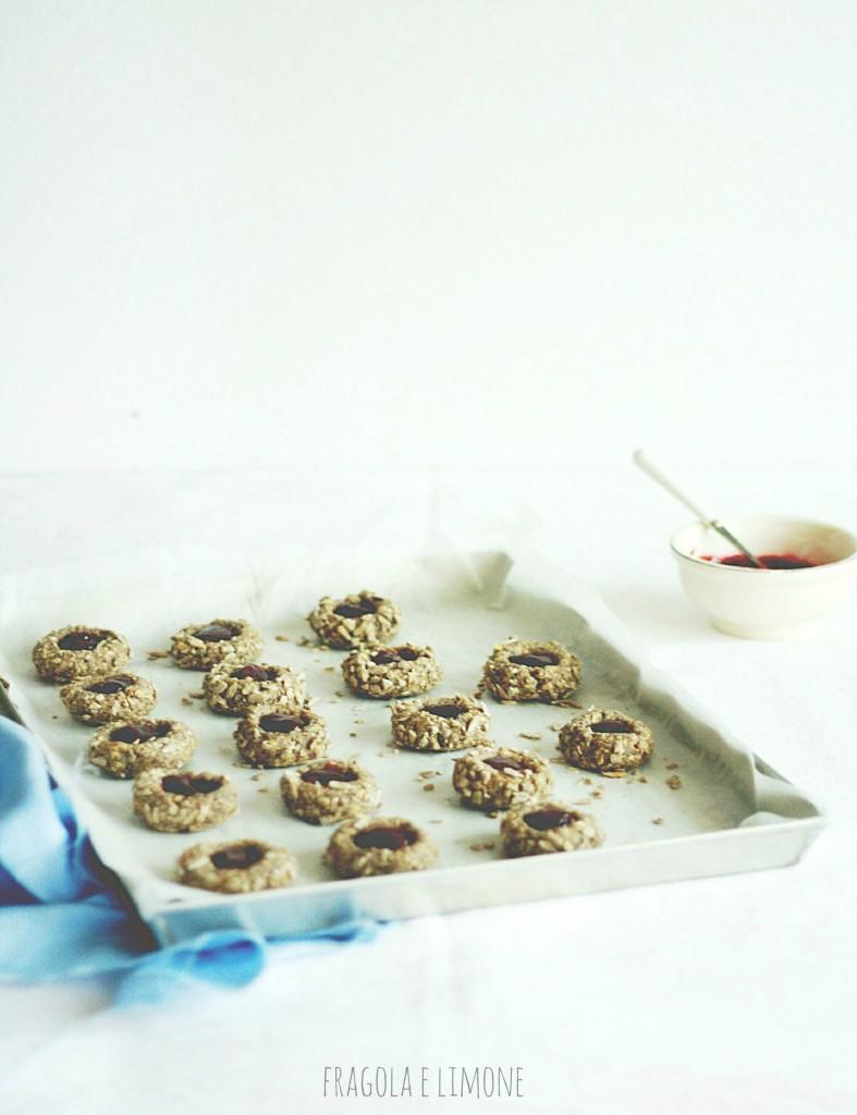 vegan jam and sunflower cookies