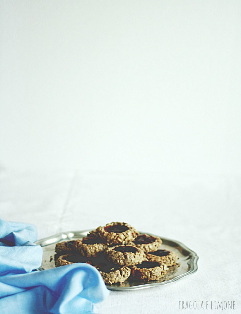 vegan jam and sunflower cookies pronti