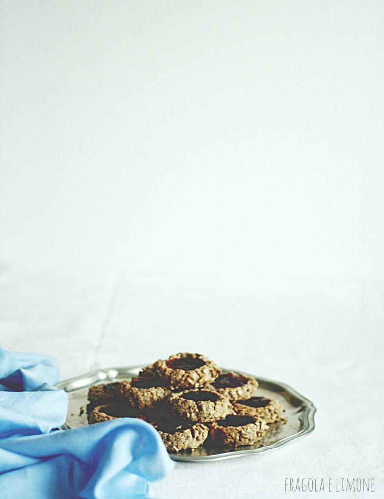 vegan jam and sunflower cookies pronti