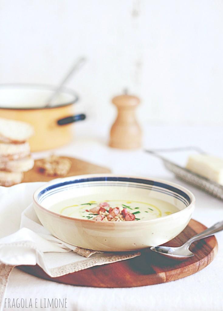 zuppa sedano rapa e pancetta