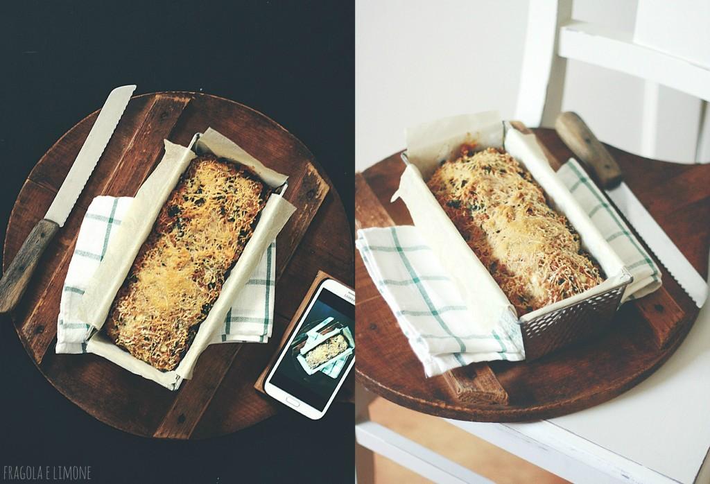 torta cavolo e feta testo