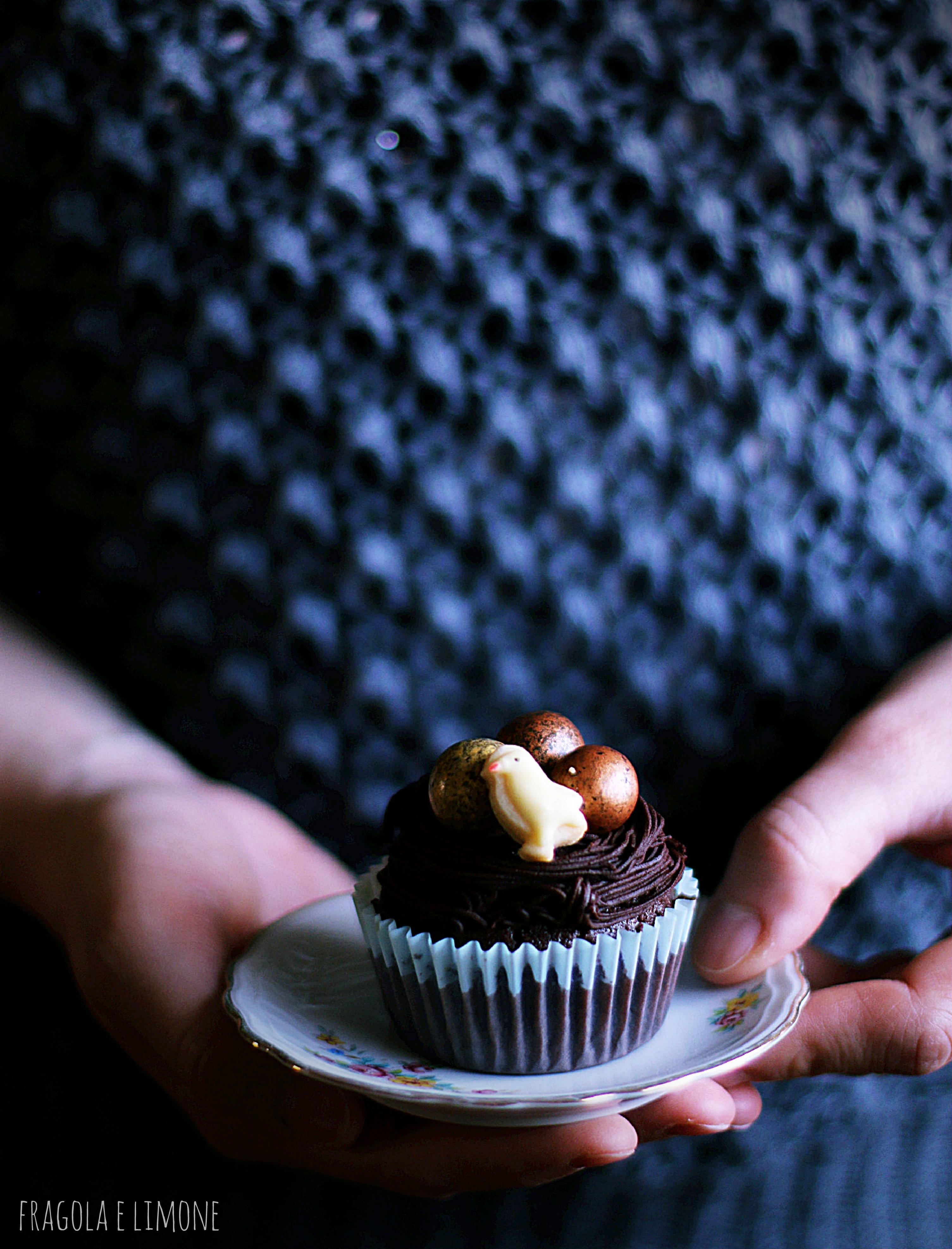 pulcino su cupcake
